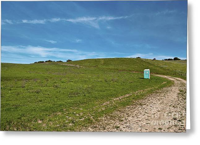 Outhouse On Lonely Road Greeting Card