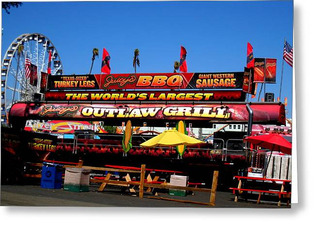 Greeting Card featuring the photograph Outlaw Grill The Worlds Largest Bbq by John King