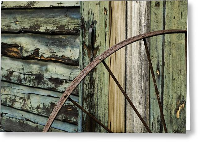 Greeting Card featuring the photograph Outside Of An Old Barn by Nancy De Flon
