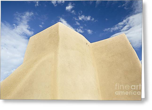 Outside Wall Of The San Francisco De Asis Mission Church Greeting Card by Bryan Mullennix