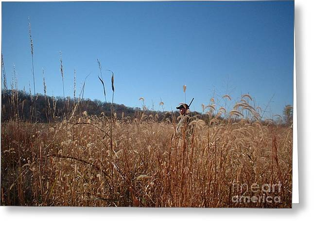 Greeting Card featuring the photograph Outstanding In His Field by Mark McReynolds