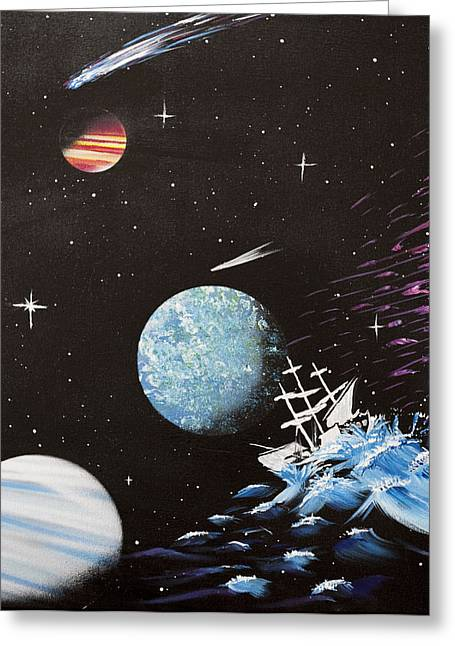 Outter Limits Greeting Card by Stephen Ford