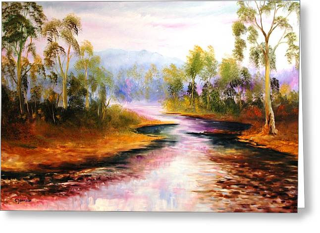 Oven's River Myrtleford Greeting Card