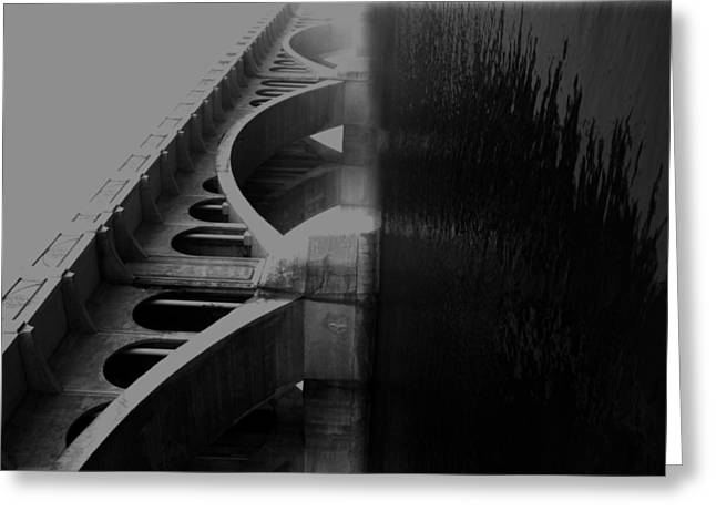 Over The Bridge Greeting Card by Jerry Cordeiro