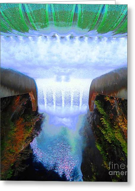 Greeting Card featuring the photograph Over The Edge by Ann Johndro-Collins
