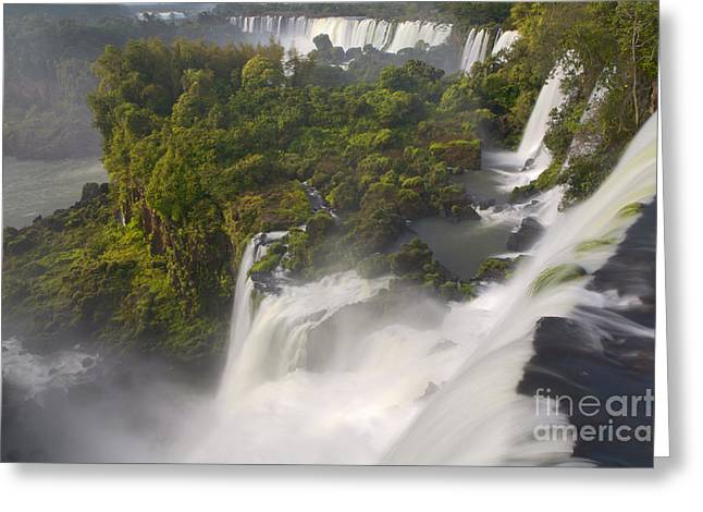 Over The Edge II Greeting Card by Keith Kapple