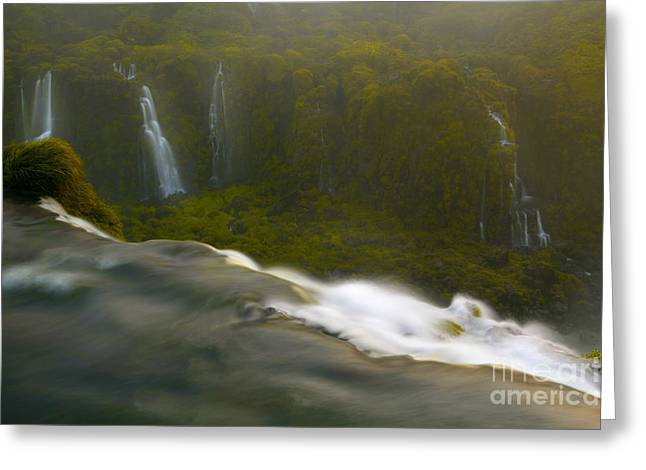 Over The Edge Greeting Card by Keith Kapple