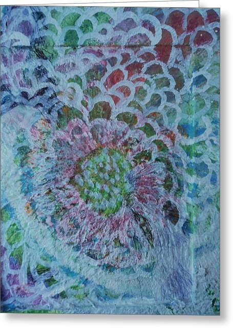 Over The Edges Floral Greeting Card by Anne-Elizabeth Whiteway
