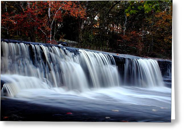 Over The Falls Greeting Card by Andrew Pacheco