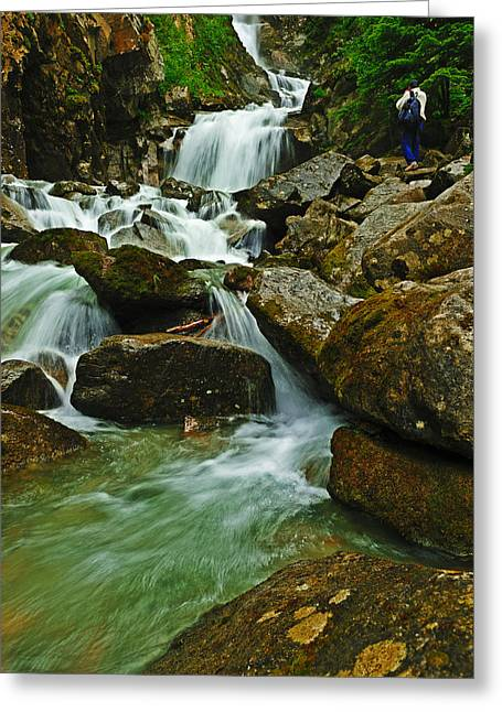 Over The Rocks Greeting Card