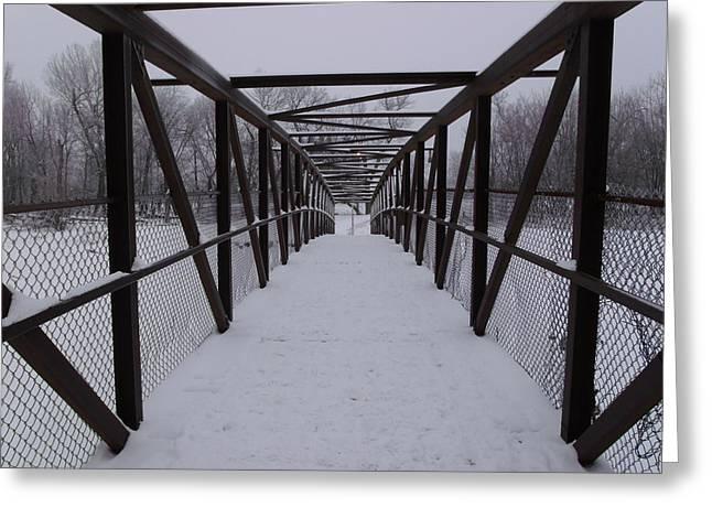 Over The Walking Bridge Greeting Card