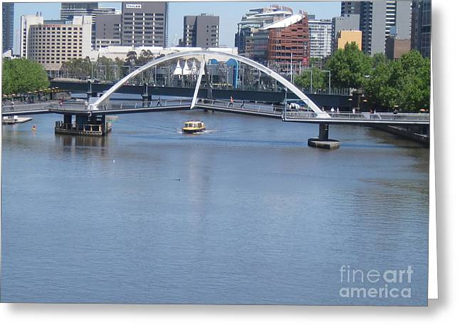 Over The Yarra Greeting Card by Donna Cavender