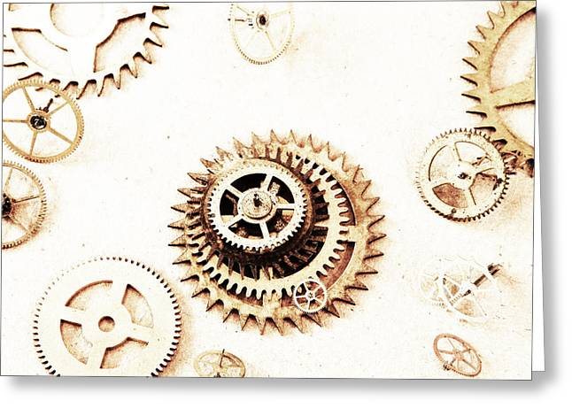 Overexposed Gears Greeting Card