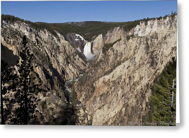 Overlook Falls Greeting Card by Charles Warren