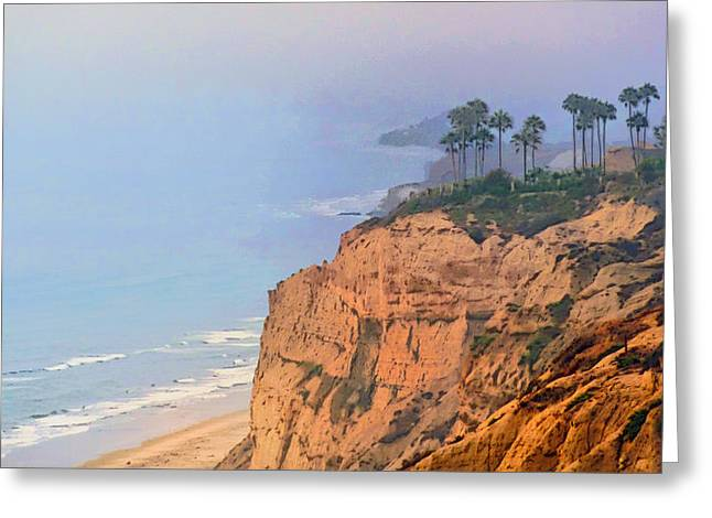 Overlooking Black's Beach La Jolla Greeting Card