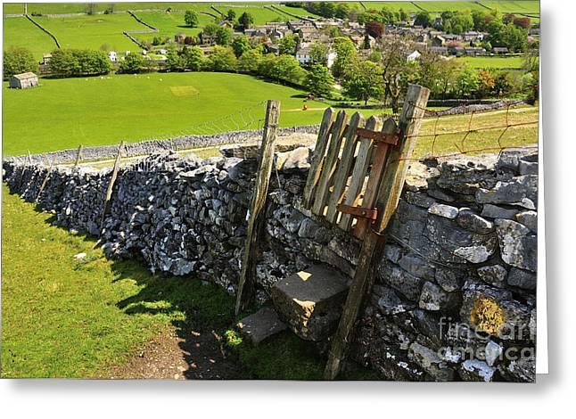 Overlooking Kettlewell Greeting Card