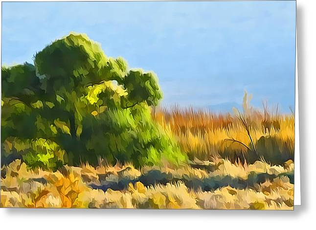 Owens Valley Tree And Brush Greeting Card