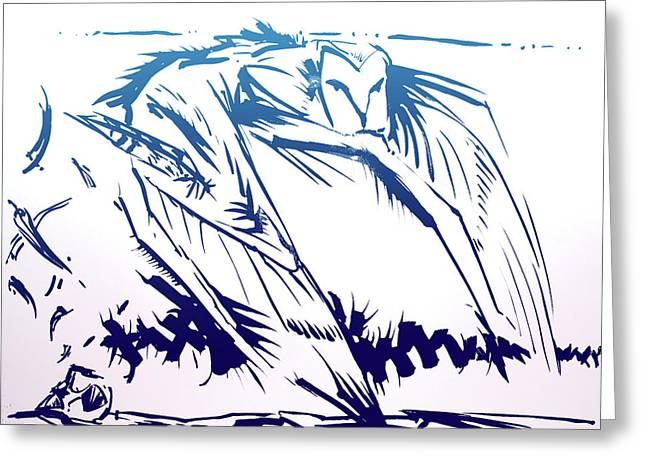 Owl Wind Greeting Card