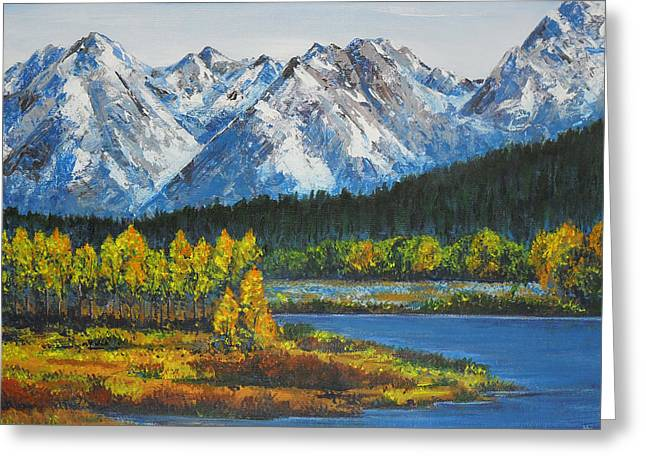 Oxbow-grand Tetons  Greeting Card
