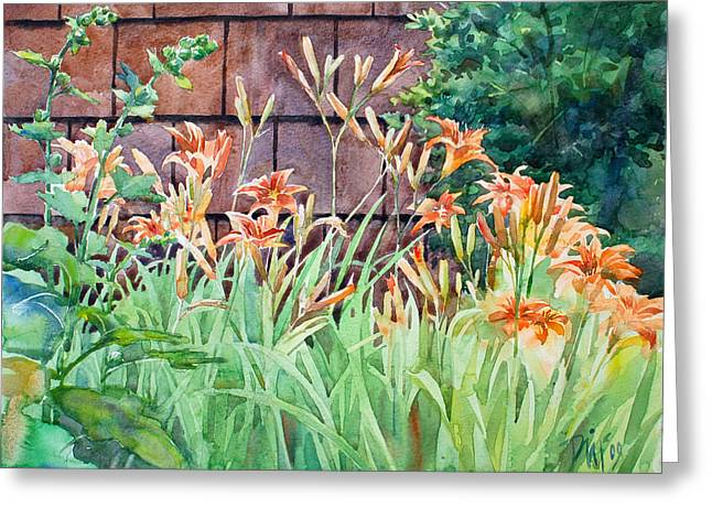 Oxenden Lilies Greeting Card by Peter Sit