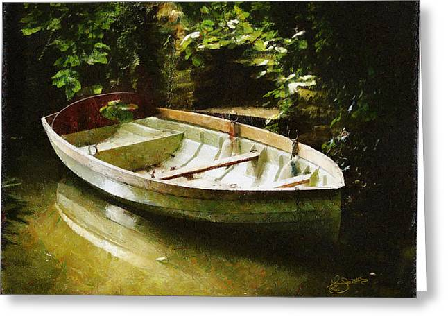 Oxford Boat And Dock Greeting Card