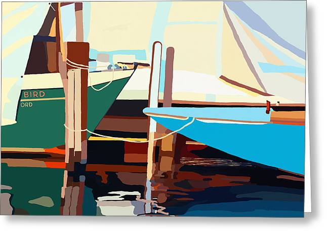 Oxford Harbor Greeting Card