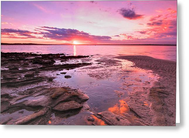 Oyster Cove Sunset Greeting Card