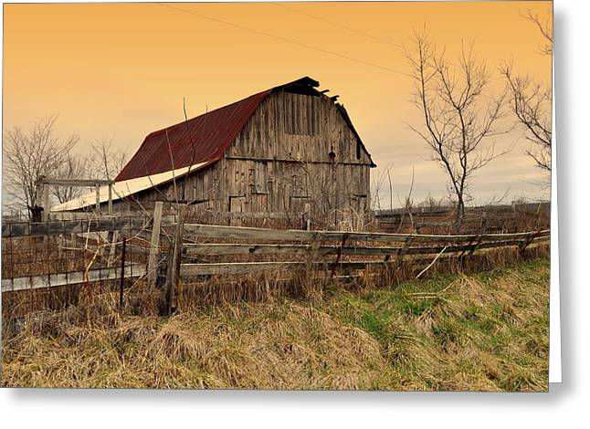 Greeting Card featuring the photograph Ozark Barn 1 by Marty Koch