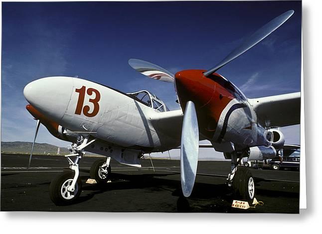 P-38 Lightning Lucky 13 Greeting Card
