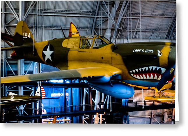 P-40e Warhawk Greeting Card by David Hahn