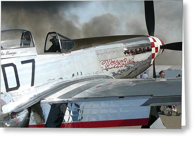 P-51 Worry Bird Greeting Card