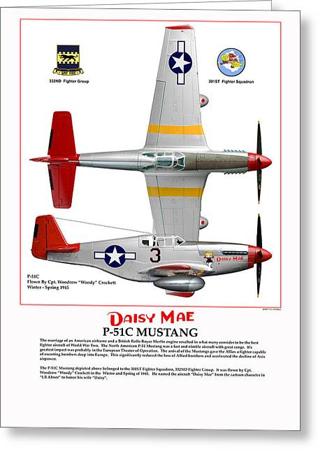P-51c Daisy Mae Greeting Card by Jerry Taliaferro