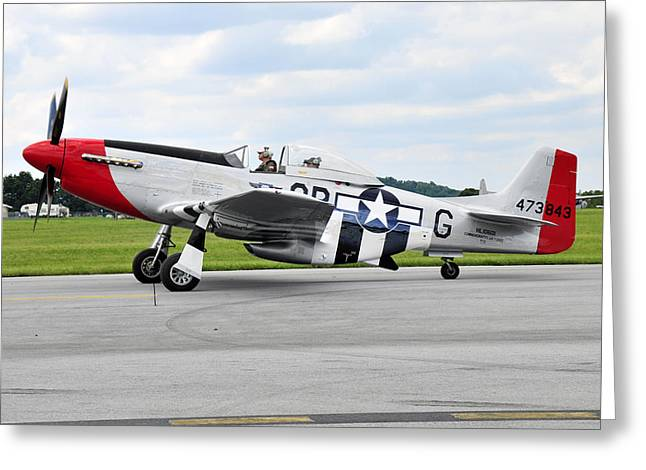 P-51d Mustang Greeting Card by Dan Myers