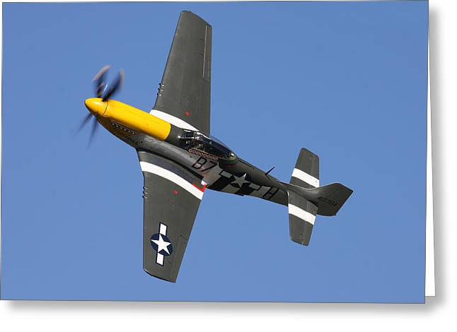 P51 Mustang Cadillac Of The Skies Greeting Card by Ken Brannen