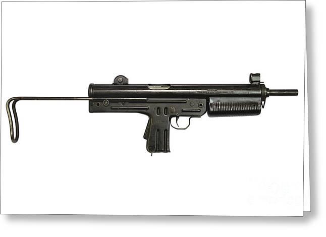 Pa3-dm Argentine 9mm Submachine Gun Greeting Card