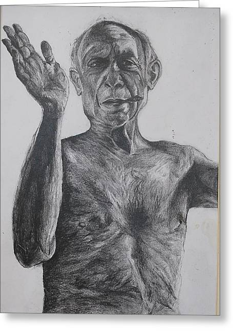 Pablo Picasso Greeting Card by Mackenzie Scott