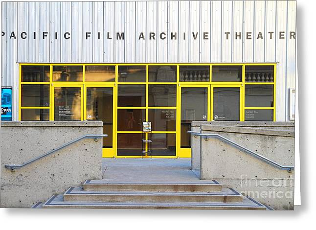 Pacific Film Archive Theater . Uc Berkeley . 7d10200 Greeting Card by Wingsdomain Art and Photography