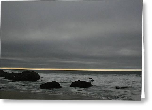 Pacific Ocean At Bodega California Greeting Card