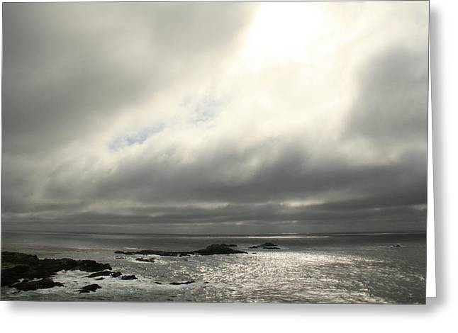 Pacific Ocean At Point Lobos California Greeting Card by Suzanne Lorenz