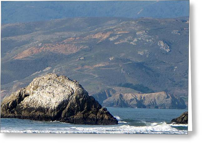 Pacific Ocean By San Francisco Greeting Card