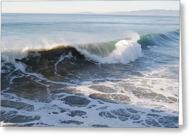 Pacific Ocen Greeting Card by Richard Adams