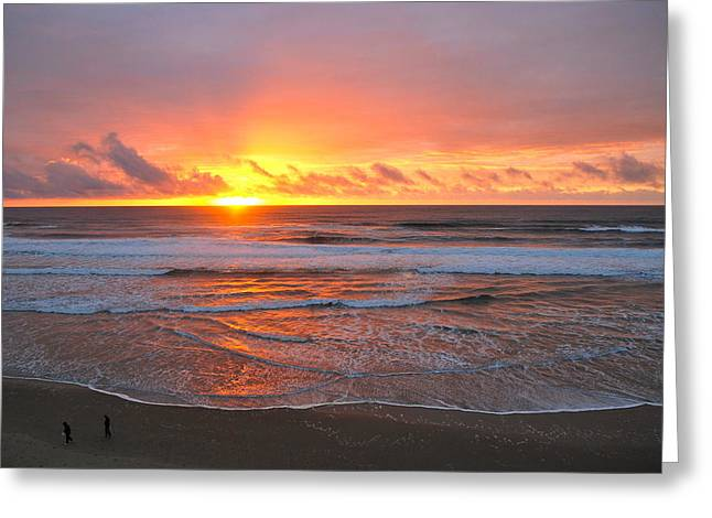 Pacific Sunset Greeting Card by Eric Tressler