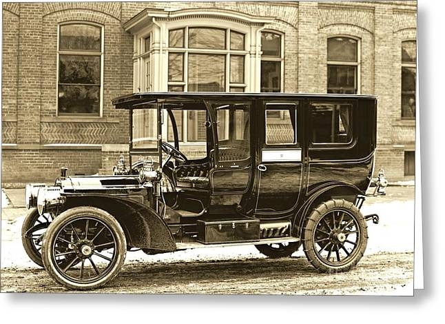 Packard Motor Car Company Automobile 1910 Greeting Card by Padre Art