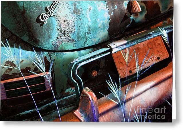 Packard On Ice Greeting Card by Joe Jake Pratt