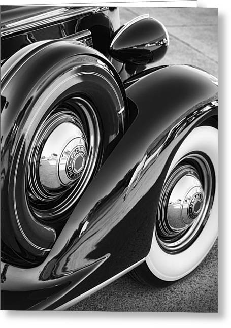 Greeting Card featuring the photograph Packard One Twenty by Gordon Dean II