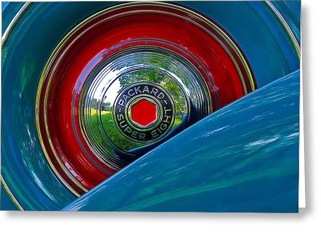 Packard Super Eight Greeting Card