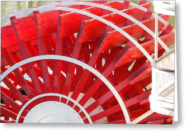 Paddle Wheel Greeting Card by Barry Jones
