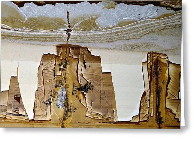 Paesina Stone Greeting Card by Dirk Wiersma