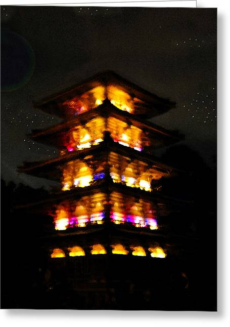 Pagoda Night Greeting Card