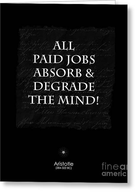 Paid Jobs Greeting Card